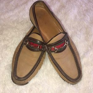 Gucci canvas loafers